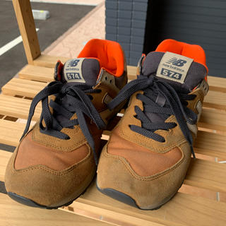 ニューバランス(New Balance)のニューバランス*26.5*574*カーキ(スニーカー)
