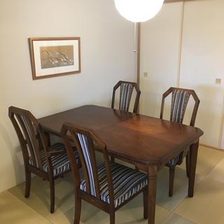 マルニ(Marni)のmaruni マルニ 最高級アンティークダイニングテーブルとチェア4脚(ダイニングテーブル)