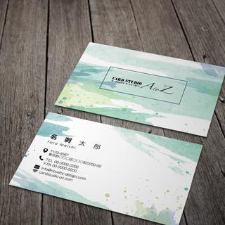 セミオーダー!プロのデザイナーが作る商業印刷の高品質名刺両面100枚/Y0058(オーダーメイド)