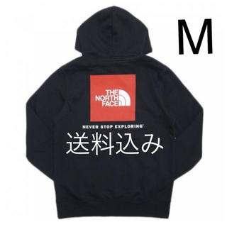 THE NORTH FACE - 【M】THE NORTH FACE ノース RED BOX パーカー 黒