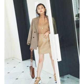 snidel - ❤️完売品❤️ スナイデル レザースクエアミニスカート レザースカート ♡