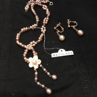 ミツコシ(三越)の宝飾品、淡水パールスワロ  セット売り  新品お値下げ(ネックレス)