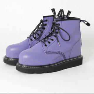 ミハラヤスヒロ(MIHARAYASUHIRO)のstudio seven × miharayasuhiro パープル ブーツ(ブーツ)