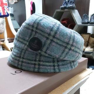 ヴィヴィアンウエストウッド(Vivienne Westwood)のヴィヴィアン グレー キャスケット 帽子 毛100%(キャスケット)