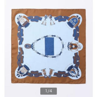 トゥモローランド(TOMORROWLAND)のトゥモローランド購入 マニプリ MANIPURI シルクスカーフ 65*65(バンダナ/スカーフ)