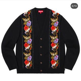 シュプリーム(Supreme)のSupreme Floral Stripe Cardigan Black L(カーディガン)