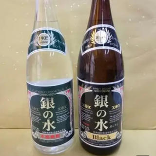 銀の水(白麹)・銀の水BRACK  1800ml 2本セット  2本セット(焼酎)