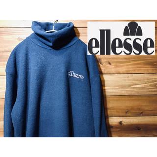 エレッセ(ellesse)のellesse  Italy ハイネック スリース 90's  レトロ ネイビー(ニット/セーター)