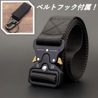 新品✨タクティカルベルト ローラーコースター ベルト 黒 ベルトフック付属✰
