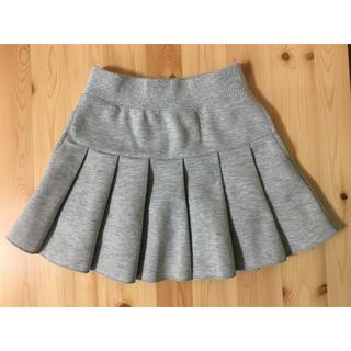 UNIQLO - プリーツスカート キッズ Sサイズ(110〜125サイズ) グレー