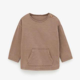ザラキッズ(ZARA KIDS)の今季新作完売 ZARA baby ザラベビー キッズ 110 ブラウンロンT(Tシャツ/カットソー)