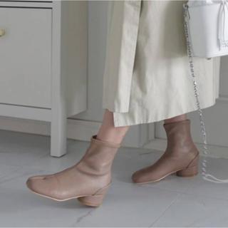 23センチ  足袋ブーツ ベージュ(ブーツ)