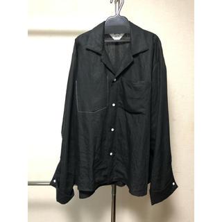 サンシー(SUNSEA)のSUNSEA LINEN GIGOLO SHIRT BLACK サイズ3(シャツ)