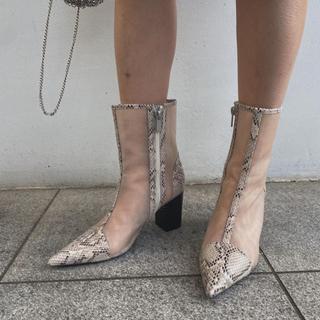 アメリヴィンテージ(Ameri VINTAGE)のMESH PIPING BOOTS(ブーツ)