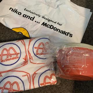 ニコアンド(niko and...)のマクドナルド 2020 福袋 デリカップ タオル 2点セット(収納/キッチン雑貨)