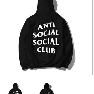 アンチ(ANTI)のanti social social clob BLACK hoody L(パーカー)