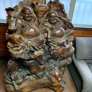木彫り 七福神みたいな人(彫刻/オブジェ)