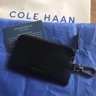 コールハーン(Cole Haan)の新品 コールハーン コイン カード入れ キーホルダー ブラック(コインケース/小銭入れ)