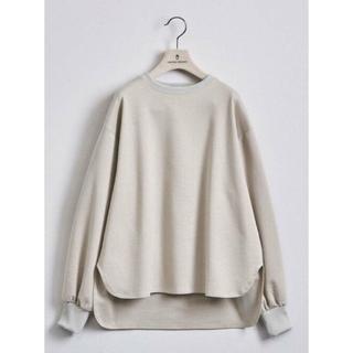 UNITED ARROWS - 【新品】STYLEforLIVING ボリュームスリーブ裾シャツテールカットソー