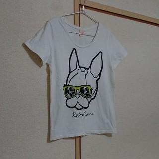 ロデオクラウンズ(RODEO CROWNS)の処分価格!crystal ball ×RODEO CROWNS白Tシャツ(Tシャツ(半袖/袖なし))
