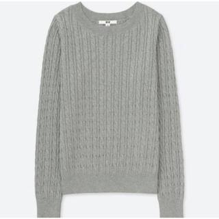 UNIQLO - ★ユニクロ★コットンカシミヤケーブルクルーネックセーター