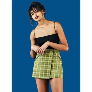 ユニフ(UNIF)のユニフ unif カワイイ緑スカート(ミニスカート)