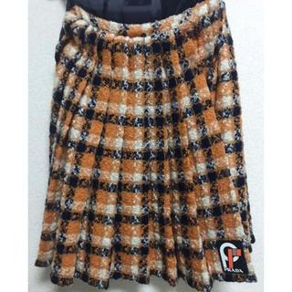 プラダ(PRADA)の18 Fall PRADA ウールスカート(ひざ丈スカート)