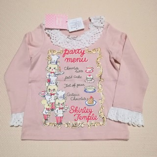シャーリーテンプル(Shirley Temple)のシャーリーテンプル パーティーメニューカットソー 100(Tシャツ/カットソー)
