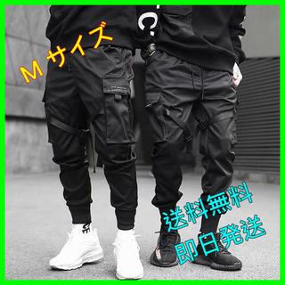【カーゴパンツ】ベイカーパンツ スリム ウエストゴム ポケット 裾リブ【M】