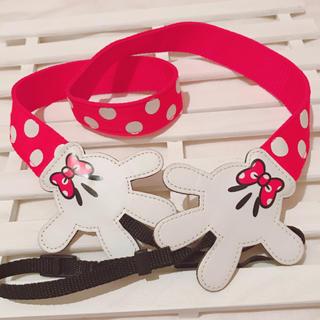 Disney - ミニーマウス♡ドット柄カメラストラップ