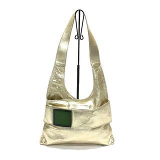マルニ(Marni)の美品 MARNI マルニ ゴールド箔 トートバッグ ショルダーバッグ(ショルダーバッグ)