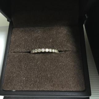 指輪 K18ラインミルリング ピンクゴールド11号