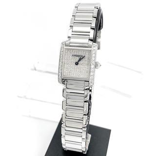 【仕上済】カルティエ フランセーズ SM ダイヤ フルダイヤ レディース 腕時計
