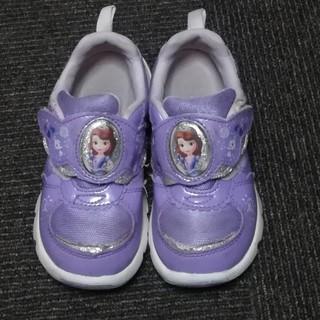 17cm プリンセスソフィア スニーカー カワイイ 女の子 薄紫