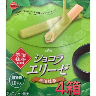 メイジ(明治)の【ブルボン】ショコラ エリーゼ 宇治抹茶 4箱(菓子/デザート)