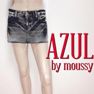 AZUL by moussy - 爆かわ♪アズールバイマウジー ウォッシュデニムスカート♡
