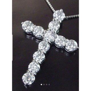 天然ダイヤ 最高級 クロスネックレス PT900   1.50ct