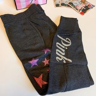 ヴィクトリアズシークレット(Victoria's Secret)の【新品】VS PINK bling スキニー ジョガーパンツ スター XS(カジュアルパンツ)