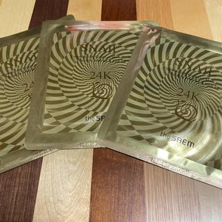 ザセム(the saem)のtheSAEM  24k  GOLD MASK sheet 3枚セット(パック/フェイスマスク)