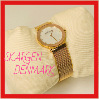 スカーゲン(SKAGEN)の★新品★【SKAGEN】腕時計  ゴールド レディース(腕時計)