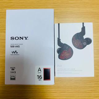 SONY NW-A45 5ドライバイヤホン、128gbSDカード付き