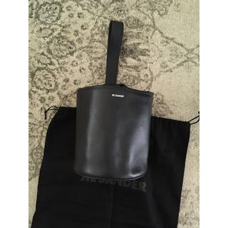 ジルサンダー(Jil Sander)のJil sanderジルサンダーハンドバッグバケツミニ巾着新品レザーブラック(ハンドバッグ)