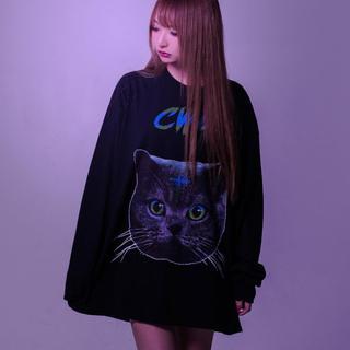 フーガ(FUGA)のTRAVAS TOKYO ねこ ロングTシャツ(Tシャツ/カットソー(七分/長袖))