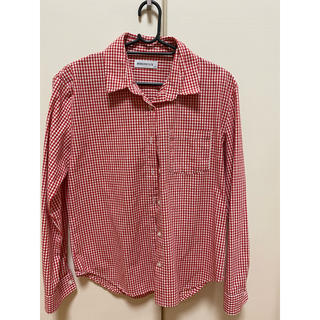 ウィゴー(WEGO)の赤チェックシャツ(シャツ/ブラウス(長袖/七分))