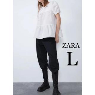 ZARA - 【新品・未使用】ZARA パフスリーブ 半袖 トップス L