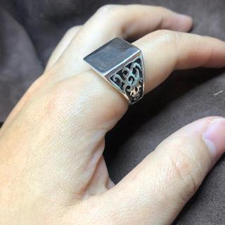 印台 トライバル SILVER925 15号 シルバー925 印台指輪 銀リング(リング(指輪))