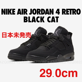 ナイキ(NIKE)の29cm NIKE AIR JORDAN 4 RETRO BLACK CAT(スニーカー)
