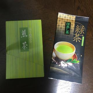 サントリー(サントリー)の緑茶  深蒸し茶100gと伊右衛門ティーバッグ8個(茶)
