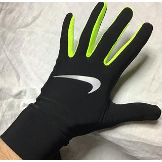 NIKE - ★新品★NIKE 手袋グローブ(M)黒x蛍光黄色ブラックxボルトネオンイエロー