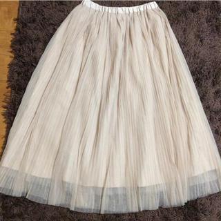 ハニーズ(HONEYS)のチュールプリーツスカート  Lサイズ(ロングスカート)